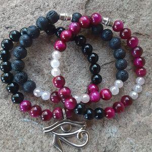 Jewelry - Pink Tiger's Eye Combo Healing Set